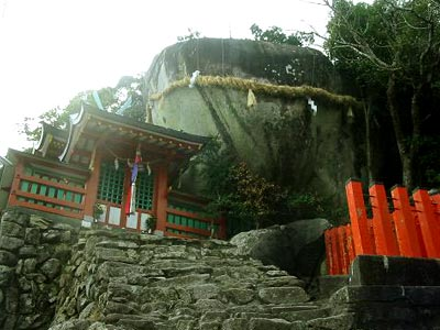 神倉神社(かみくらじんじゃ)ゴトビキ岩